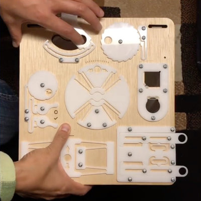 Examples and Demonstration Board of Laser-Cut Flexures in Delrin