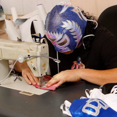 This Lucha Libre Wrestler Is Sewing Masks Instead of Costumes During the Coronavirus Pandemic