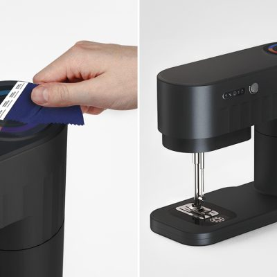 This multifunctional sewing machine uses color detection sensors to print new thread on-demand in any color!